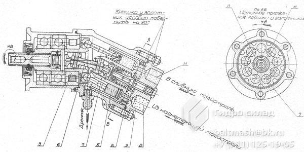 Схема действия гидромотора
