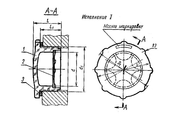 Чертеж маслоуказателей МН176-63